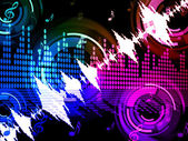 Sound Wave Background Means Audio Amplifier Or Music Mixe — 图库照片