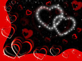 Glittering Hearts Background Show Tenderness Affection And Lov — Stock Photo
