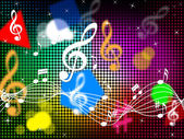 Music Colors Background Shows Blues Classical Or Po — Stock Photo