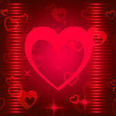 Hearts Background Shows Romance  Attraction And Affectio — ストック写真