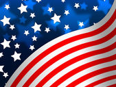 American Flag Banner Means States America And Star — Stock Photo