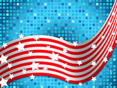 American Flag Background Means Nation And Glittering Square — Stock Photo
