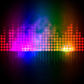Music Equalizer Background Shows Pulse Track Or Sound Frequenc — Stock Photo