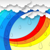 Arcs Weather Background Means Clouds Rain And Rainbo — Stock Photo