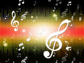 Music Background Shows Musical Notes And Sound — Stock Photo