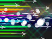 Colorful Arrows Background Means Net Traffic And Byte — Stock Photo