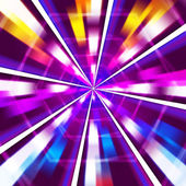 Purple Rays Background Means Sharp Beams And Hexagon — Stock Photo