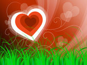 Hearts Background Means Beautiful Landscape Or Loving Natur — Foto Stock