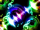 Sound Wave Background Shows Musicalization Or Audio Equalize — Stock Photo