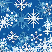 Blue Snowflakes Background Shows Winter And Froze — Stock Photo
