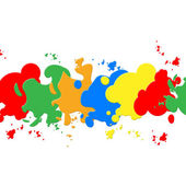 White Paint Backround Shows Colorful Artistic And Paintin — Stock Photo