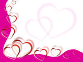 Hearts Background Shows Love Desire And Pin — Stock Photo