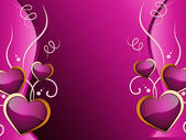 Hearts Background Means Romance  Attraction And Weddin — 图库照片