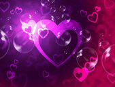 Hearts Background Shows Romantic Relationship And Marriag — Foto Stock