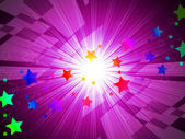 Rainbow Stars Background Means Astronomy And Light Beam — Stock Photo