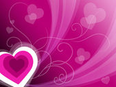 Hearts Background Means Pink Valentines Or Anniversary Car — Stockfoto