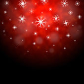 Snowflakes Red Background Means Winter Season Wallpape — Stock Photo
