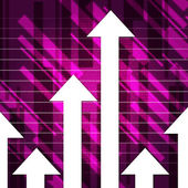 Purple Arrows Show Upwards Increase And Growt — Stock Photo