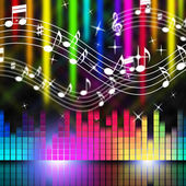 Music Background Means Playing Singing And Musica — Stock Photo