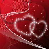 Red Hearts Background Means Love Friends Or Famil — Stock Photo