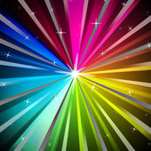 Colorful Rays Background Shows Brightness Rainbow And Radiatin — Stock Photo