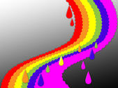 Rainbow Background Shows Colorful Positive And Stor — Stock Photo