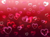 Hearts Background Means Love Adore And Friendshi — Stock Photo