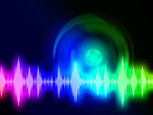 Sound Wave Background Shows Audio Spectrum Or Energ — Foto de Stock