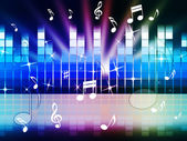 Multicolored Music Background Shows Playing Tune Or Meta — Stock Photo