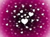 Bunch Of Hearts Background Means Attraction  Affection And In Lo — Stock fotografie