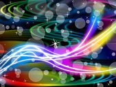 Flourescent Swirls Background Means Colorful Space And Bubble — Stock Photo