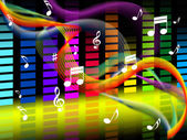 Music Background Shows Tune Jazz Or Classica — Stock Photo