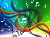 Waves Music Background Means Colorful Singing And D — Stock Photo