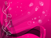 Pink Floral Background Shows Flower Pattern And Bubble — Stock Photo
