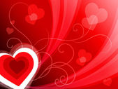 Hearts Background Shows Romantic And Passionate Wallpape — Stock Photo