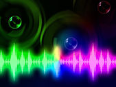 Sound Wave Background Means Music Volume Or Amplifie — Foto Stock