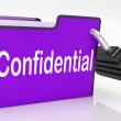 Постер, плакат: Confidential Security Means Restricted Organize And Confidential