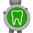 ������, ������: Tooth Icon Represents Dental Signboard And Smile
