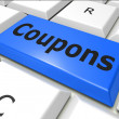 Coupons Online Represents World Wide Web And Couponing — Stock Photo #49014605