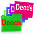 Постер, плакат: Deeds Files Indicates Document Ownership And Title