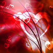 Background Heart Represents Valentine Day And Abstract — 图库照片