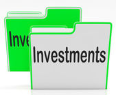Files Investments Means Administration Organization And Business — Foto de Stock