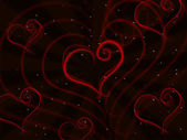Hearts Background Shows Valentine Day And Affection — Stock Photo