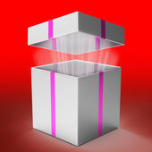 Gift Celebration Indicates Box Fun And Gift-Box — Zdjęcie stockowe