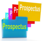 Prospectus Files Shows Folder Inform And Business — Stock Photo