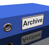 File Archive Means Catalog Document And Documentation — Stock Photo