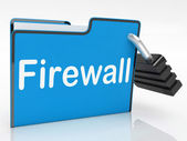 Firewall Security Represents No Access And Administration — Stock Photo