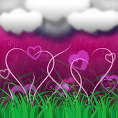 Background Clouds Indicates Clothes Pegs And Backdrop — Stock Photo