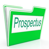 File Prospectus Shows Advertise Pamphlet And Describe — Stock Photo
