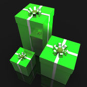 Giftboxes Celebration Means Wrapped Celebrate And Occasion — Stock Photo